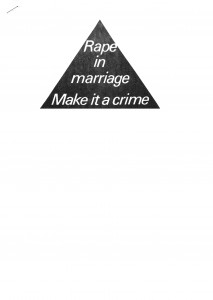 Rape in marriage 1980s